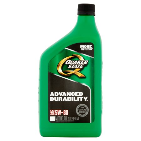 Quaker state advanced durability sae 5w 30 motor oil 1 qt for Quaker state conventional motor oil