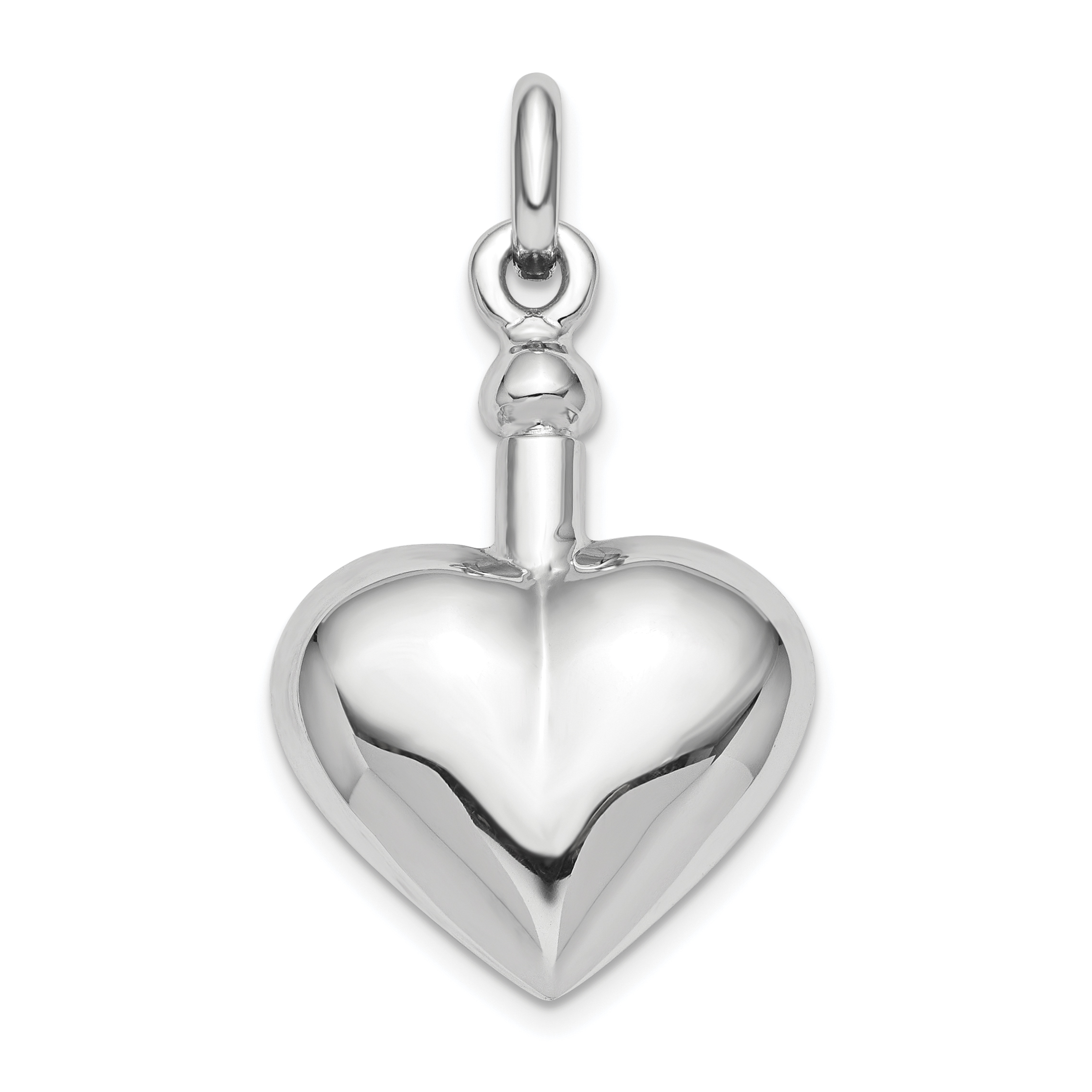 925 Sterling Silver Heart Pendant Charm Necklace Love Puffed Fine Jewelry Gifts For Women For Her