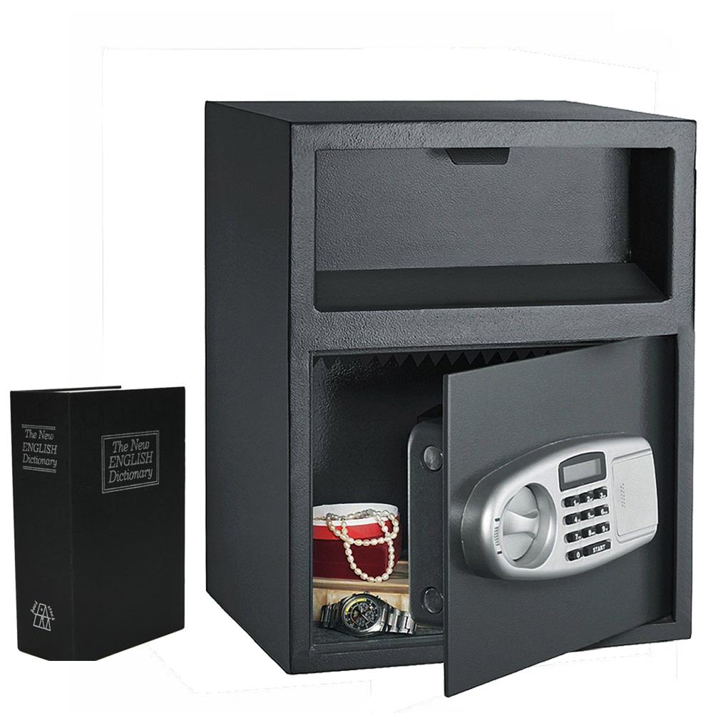 Ktaxon Digital Safe Box Depository Drop Deposit Front Load Cash Money Vault Lock with A Mini Safety Storage Box