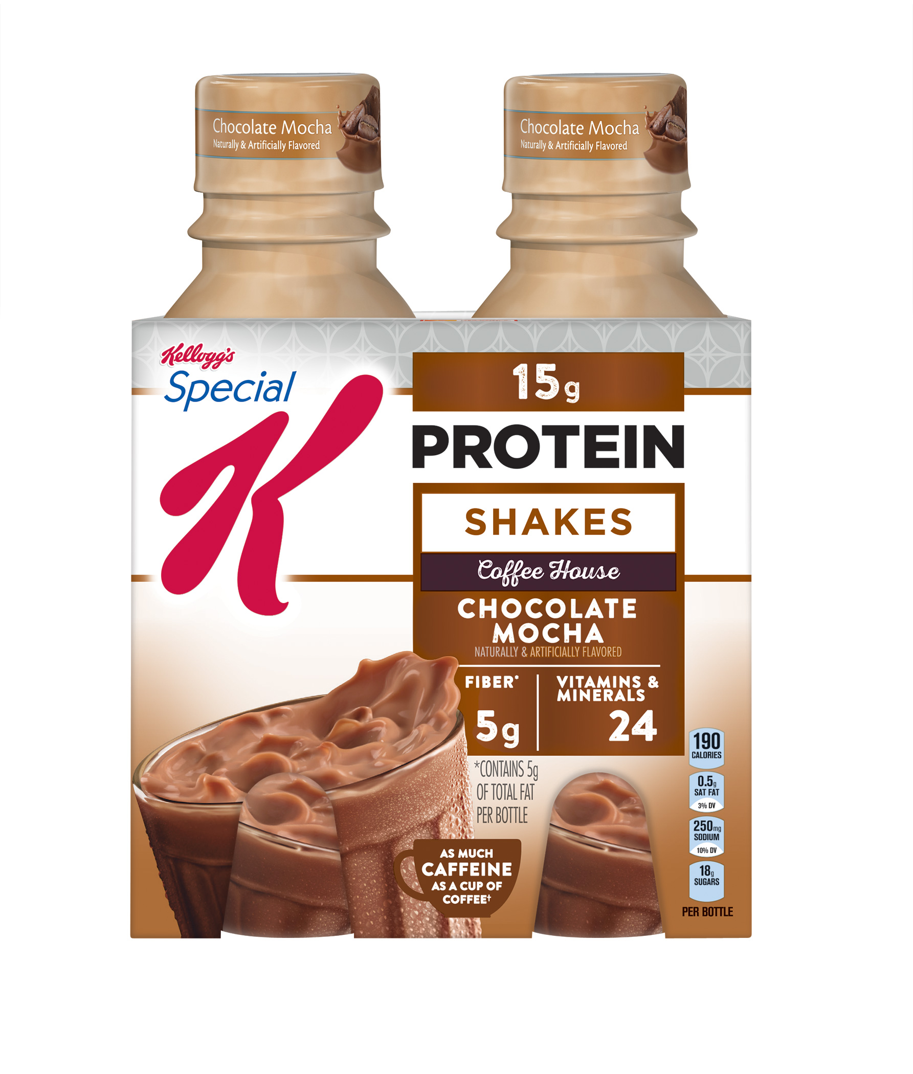 Kellogg's Special K Protein Shake, Chocolate Mocha, 15g Protein, 4 Ct