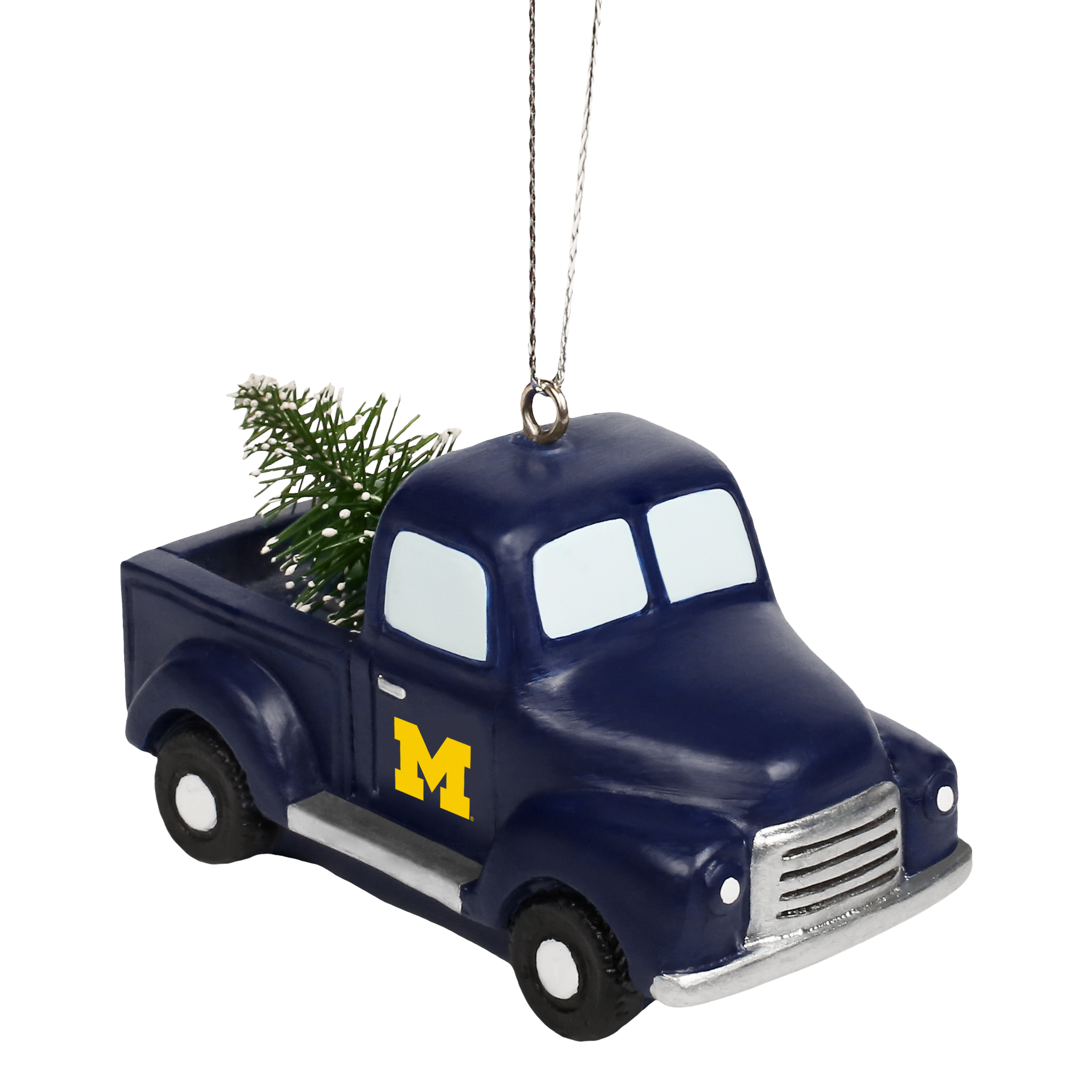 Michigan Wolverines Official NCAA Holiday Christmas Ornament Truck With Tree by Forever Collectibles 517559