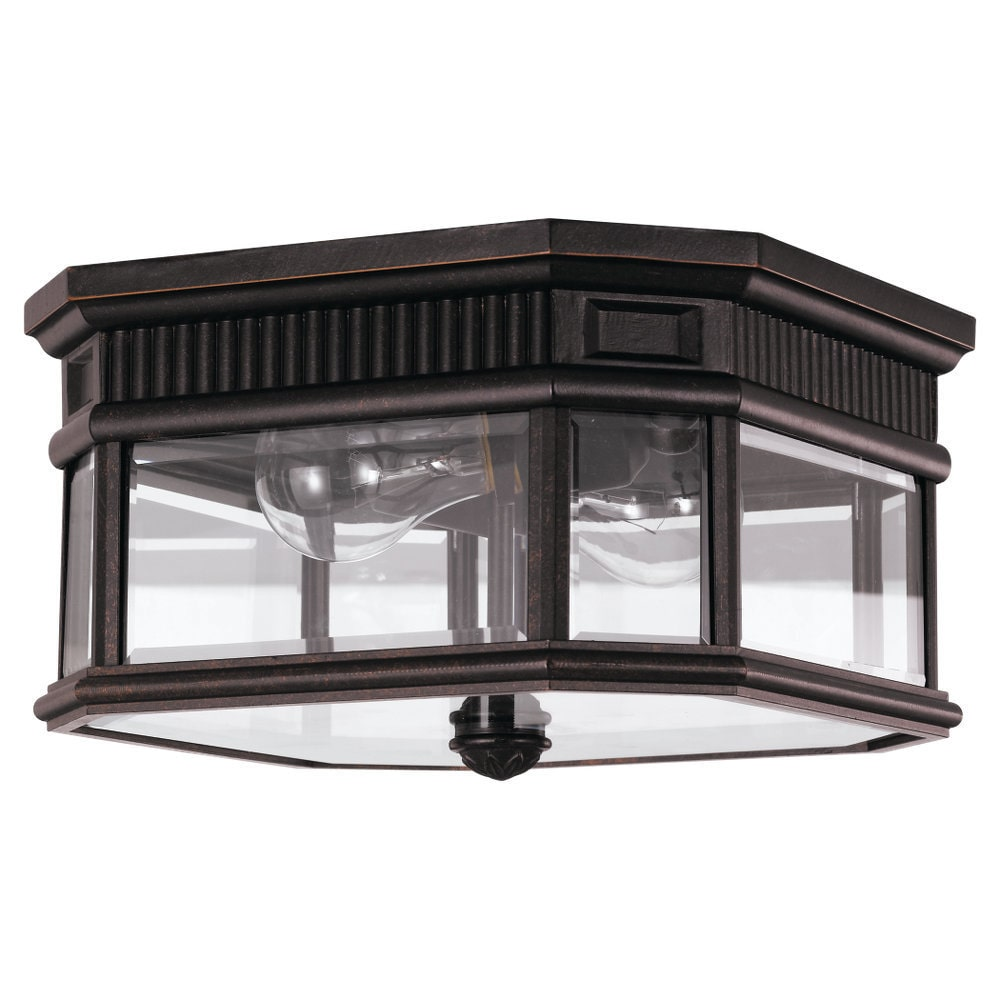 Feiss 2 -light Cotswold Lane Ceiling Fixture in Grecian Bronze