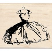 "Inkadinkado Mounted Rubber Stamp 3.5""X4""-My Mother's Dress"