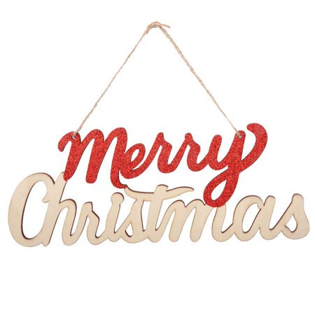 eZAKKA Merry Christmas Wooden Door Wall Hanging Sign Ornaments Board for Holidays Wooden Wall Door Decoration Indoor Outdoor