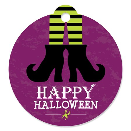 Happy Halloween - Witch Party Favor Gift Tags (Set of 20)](Tags For Halloween)