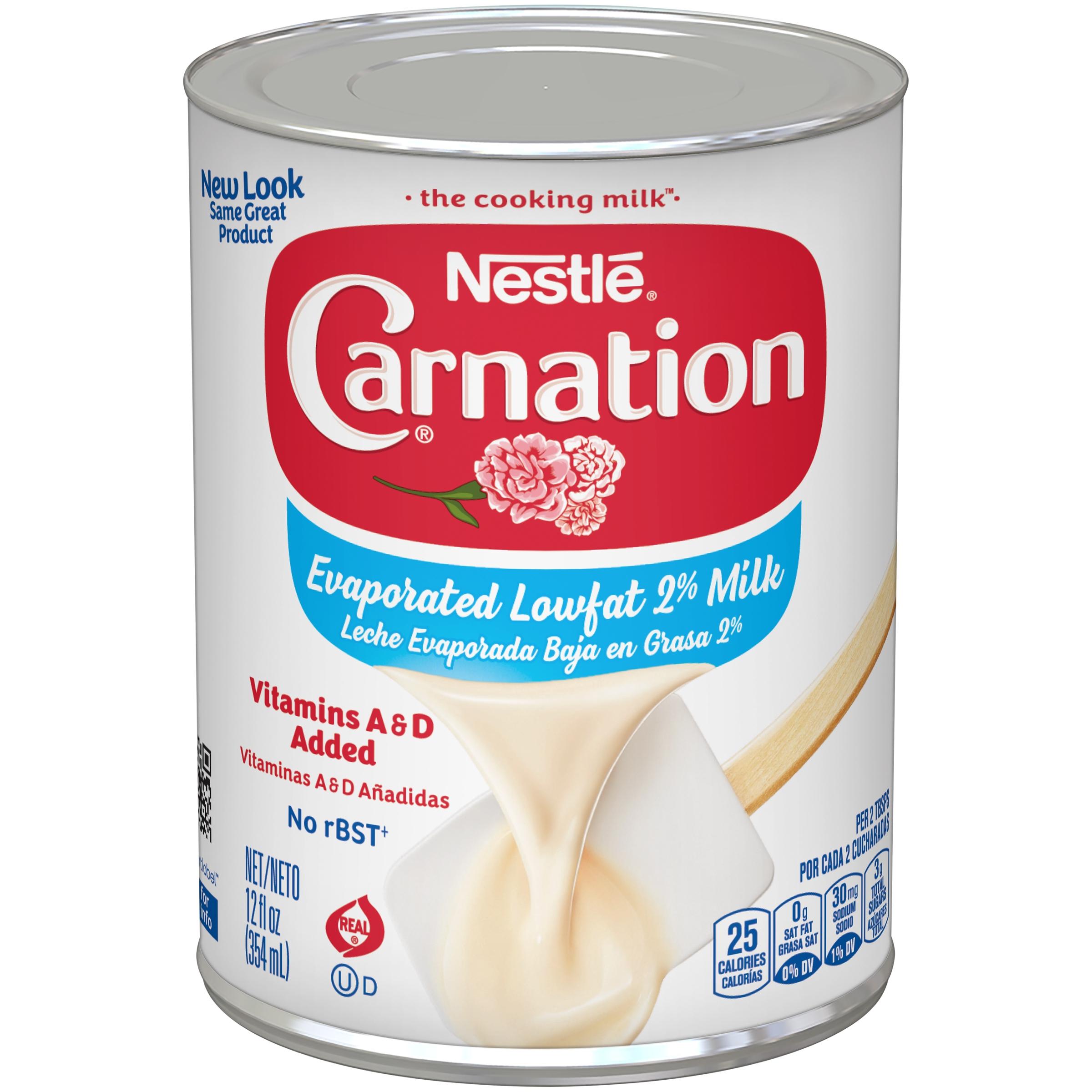 (4 Pack) CARNATION Evaporated Lowfat 2% Milk 12 fl. oz. Can