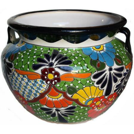 Large-Sized Paracho Mexican Colors Talavera Ceramic Garden