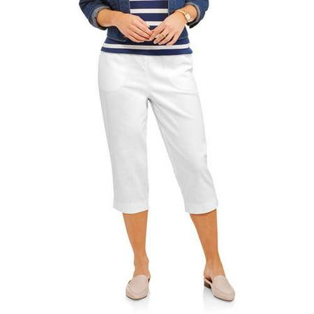 RealSize - Womens 2-Pocket Stretch Capri Pants - Walmart.com