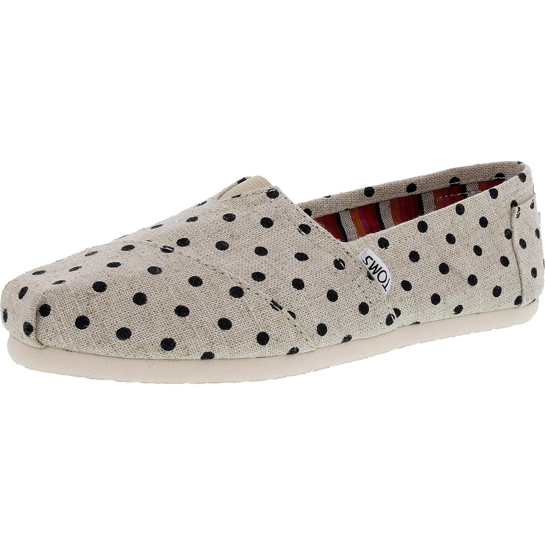 Toms Classic Natural Polka Dot Womens Espadrilles Shoes-8