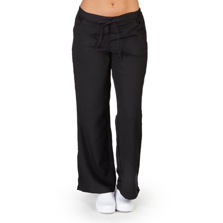 Ultra Soft Medical Nurse Uniform Womens Premium Junior Fit 5 Pocket Scrub Pant, 36161 BLACK / X-Large](Nurse Scrubs For Halloween)