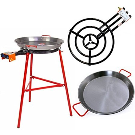 Paella Burner - paella pan + paella burner and stand set - complete paella kit for up to 22 servings