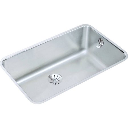 Elkay ELUH281610PDK Gourmet Lustertone Stainless Steel Single Bowl Undermount Sink Kit