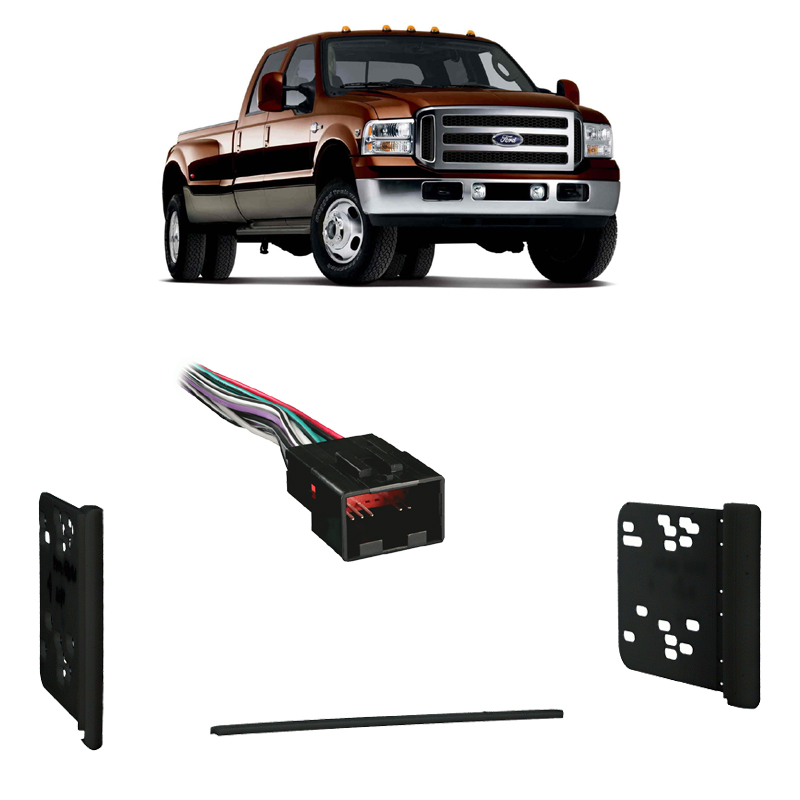 ford factory radio wiring 99e 250 fits ford f 250 350 450 550 650 750 99 04 double din harness radio  fits ford f 250 350 450 550 650 750 99
