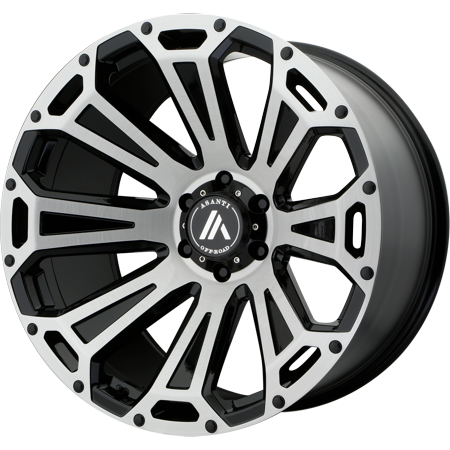 Asanti Off Road AB813 20x10 8x165.10 BLACK-BRUSHED (-12 mm) (Forged Off Road Wheels)