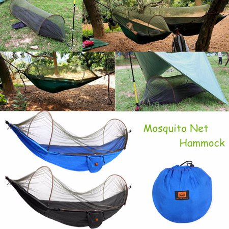 Outdoor High Strength Parachute Fabric Camping Hammock Portable Hanging Bed With Mosquito Net Sleeping