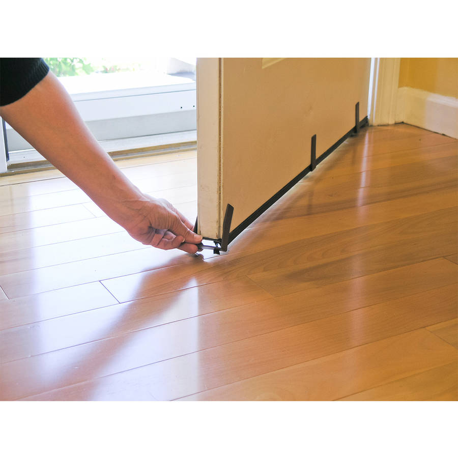 Door draft stopper - Draft Doors Save Money U0026 Energy With The Away Black