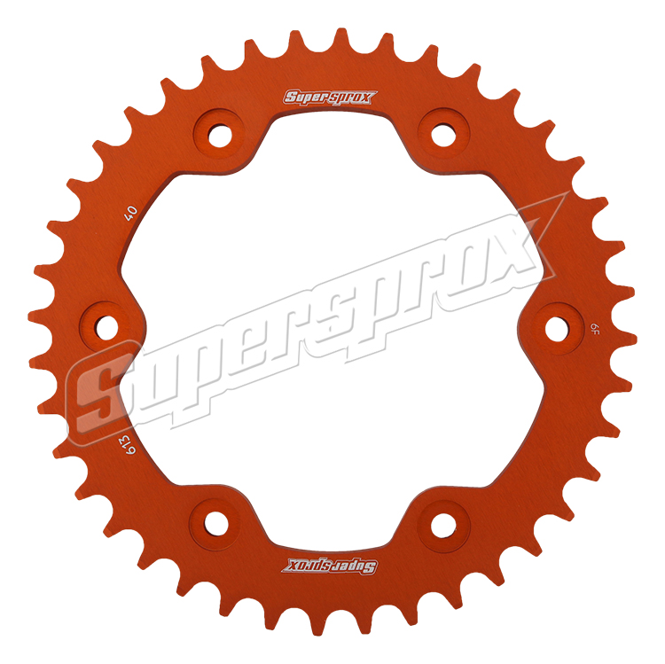 New Supersprox Orange Aluminum Sprocket, 40T, Chain Size 525, Ral-613-40-Org