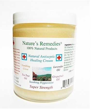 100% Natural Antiseptic Healing Cream: Dr. Recommended, 5X Faster Healing, Wounds, Infected Skin, Bed Sores, Diabetic Ulcers, Neuropathy, Burns, Eczema, Psoriasis, Itchy Skin, Res Q Ointment 4