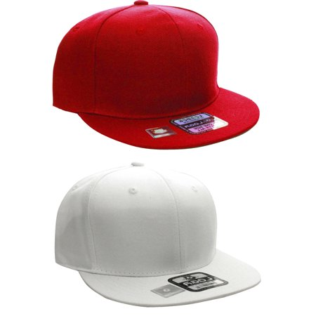 L.O.G.A Plain Flat Bill Visor Blank Snapback Hat Cap with Adjustable Snaps - Plain Birthday Hats