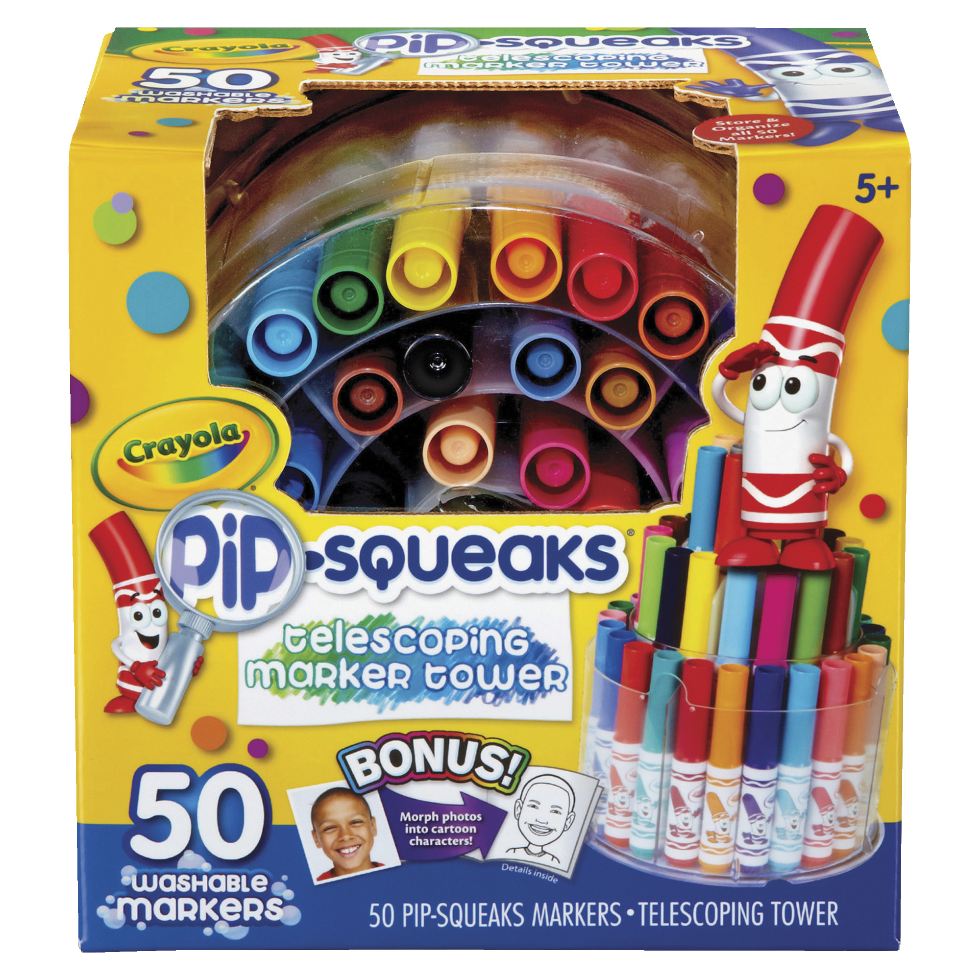 Crayola Pip-Squeaks Marker Tower, Assorted Colors, Carton of 50