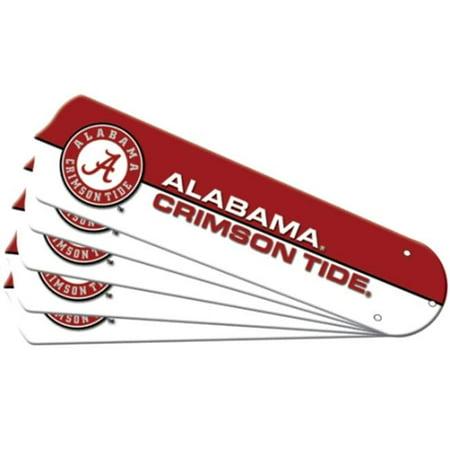 Rosewood 52 Inch Fan Blades - Ceiling Fan Designers 7990-ALA New NCAA ALABAMA CRIMSON TIDE 52 in. Ceiling Fan Blade Set