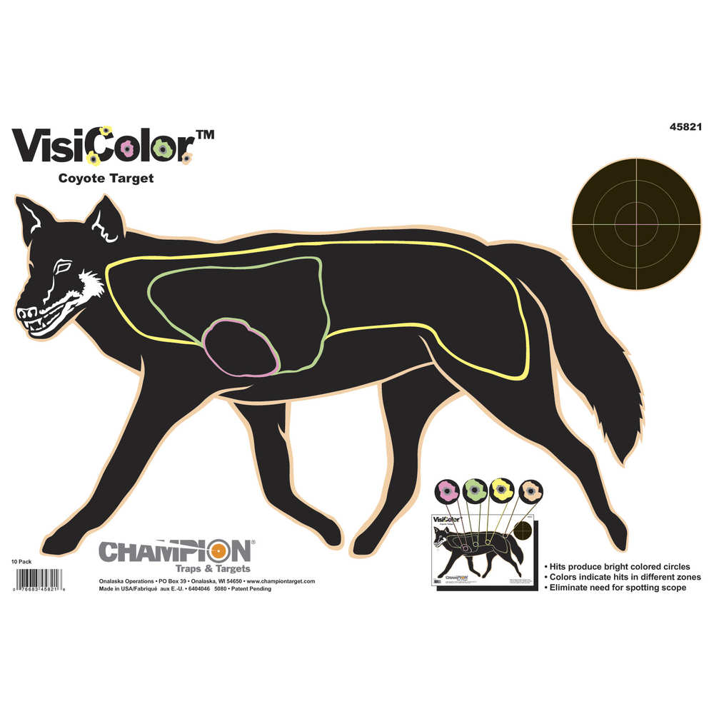 *Champion Visicolor Targets 45821 Visicolor, Coyote (10 Pk)
