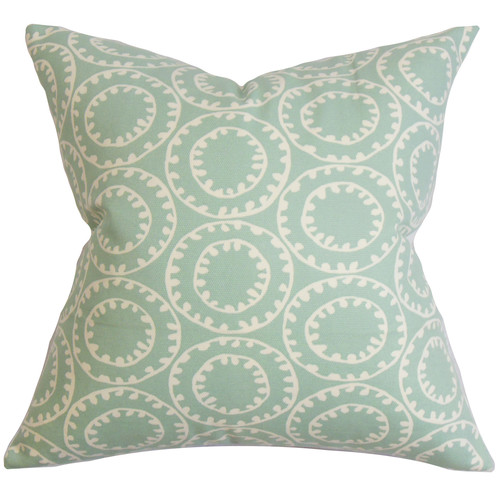 The Pillow Collection Yowanda Geometric Cotton Throw Pillow