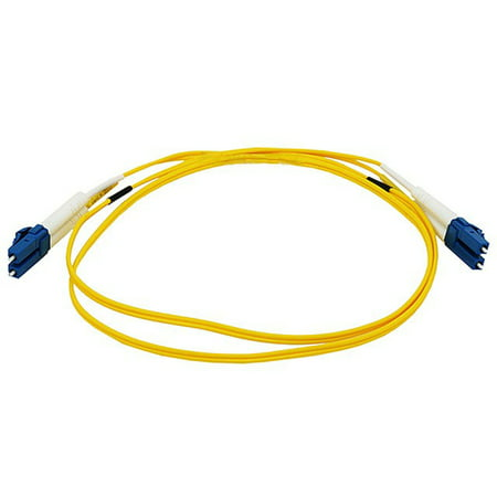 Fiber Optic Cable - LC to LC_ 9/125 Type_ Single Mode_ Duplex_ Yellow_ 1m - image 2 of 2