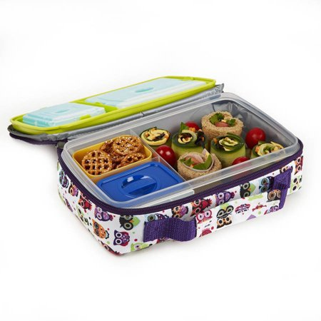 bento lunch kit with insulated carry bag. Black Bedroom Furniture Sets. Home Design Ideas