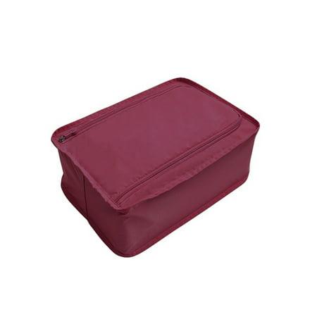 Convenience Travel Storage Bag Multi-functional Waterproof Nylon Shoes Organizer Bags Shoe Sorting Pouch Handbag Portable Classification Bags (wine (Best Wine Travel Bag)