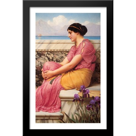 Absence Makes the Heart Grow Fonder 24x40 Large Black Wood Framed Print Art by John William
