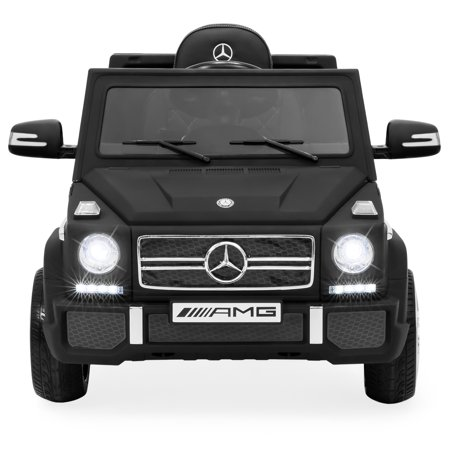 Best Choice Products 12V Kids Battery Powered Licensed Mercedes-Benz G65 SUV RC Ride-On Car w/ Parent Control, Built-In Speakers, LED Lights, AUX, 2 Speeds - Matte Black