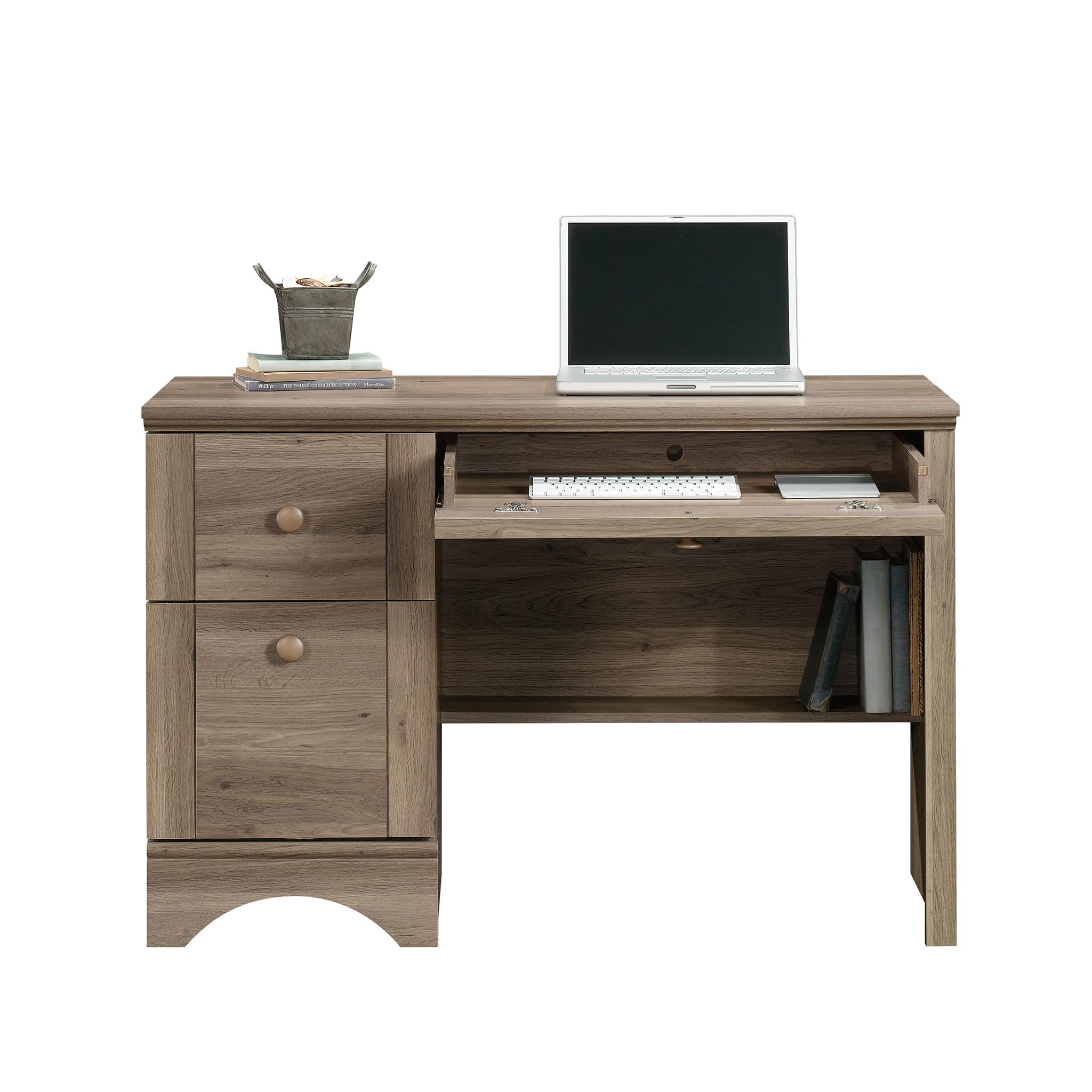 Sauder Harbor View Computer Desk, Salt Oak Finish
