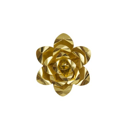 Mega Crafts - 8'' Handmade Paper Flower in Metallic Gold | For Home Décor, Wedding Bouquets & Receptions, Event Flower Planning, Table Centerpieces, Backdrop Wall Decoration, Garlands & Parties ()