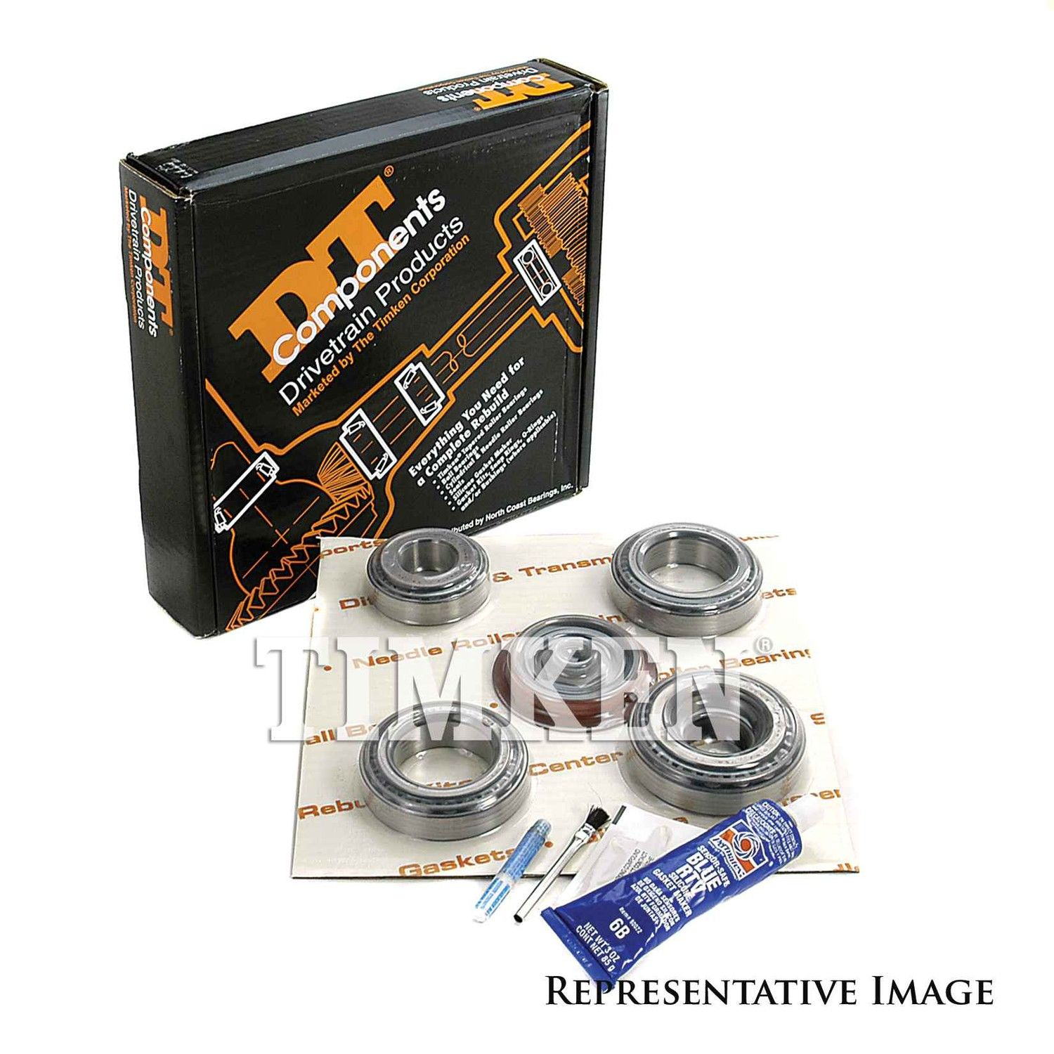 Axle Differential Bearing and Seal Kit Front,Rear Timken ...