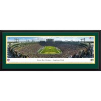 Green Bay Packers - End Zone at Lambeau Field - Blakeway Panoramas NFL Print with Deluxe Frame and Double Mat