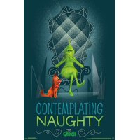 The Grinch - Contemplating Naughty Poster Print