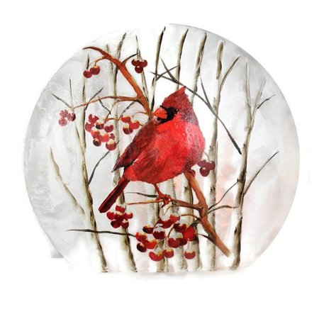 Stony Creek Frosted Glass Round Giant - 1 Cardinal