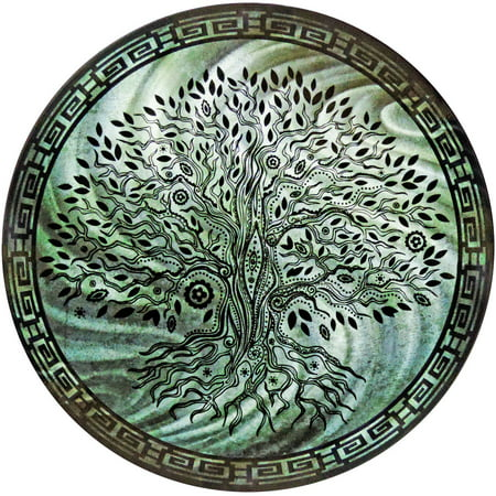 Round Tree Of Life Teal Metal Wall Art By Next Innovations