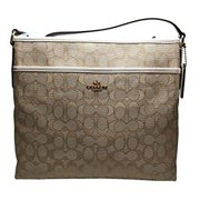 coach outline signature file bag cross body light khaki chalk 58285 by
