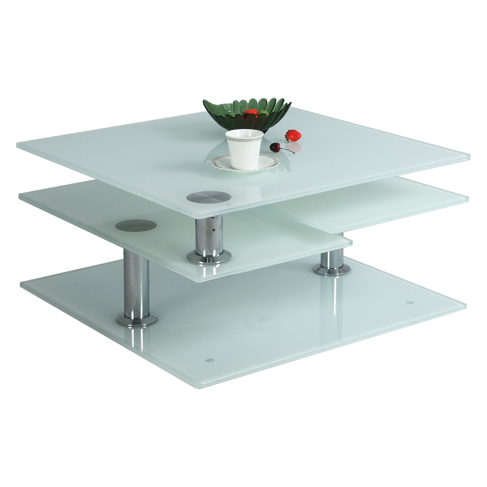 Chintaly Starphire Glass Cocktail Table by Chintaly Imports