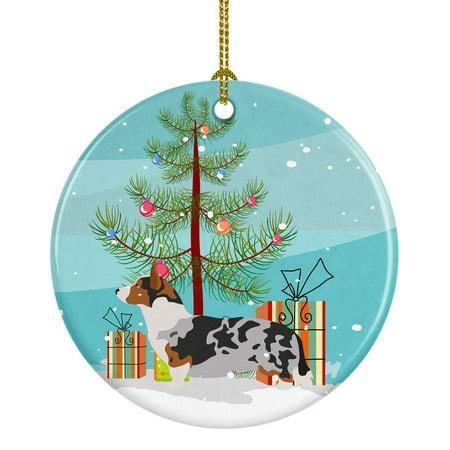 Welsh Corgi Cardigan Christmas Ceramic Ornament Pembroke Welsh Corgi Ornament