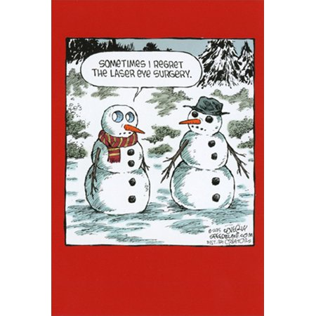 Nobleworks Laser Eye Surgery Snowman Dave Coverly Humorous / Funny Christmas