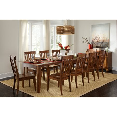 Linen Extension Dining Table - A-America Toluca Rectangular Extension Dining Table - Rustic Amber