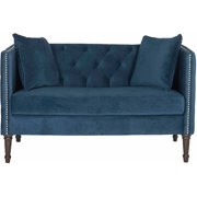 """Safavieh 53"""" Sarah Tufted Settee with Pillows, Multiple Colors"""