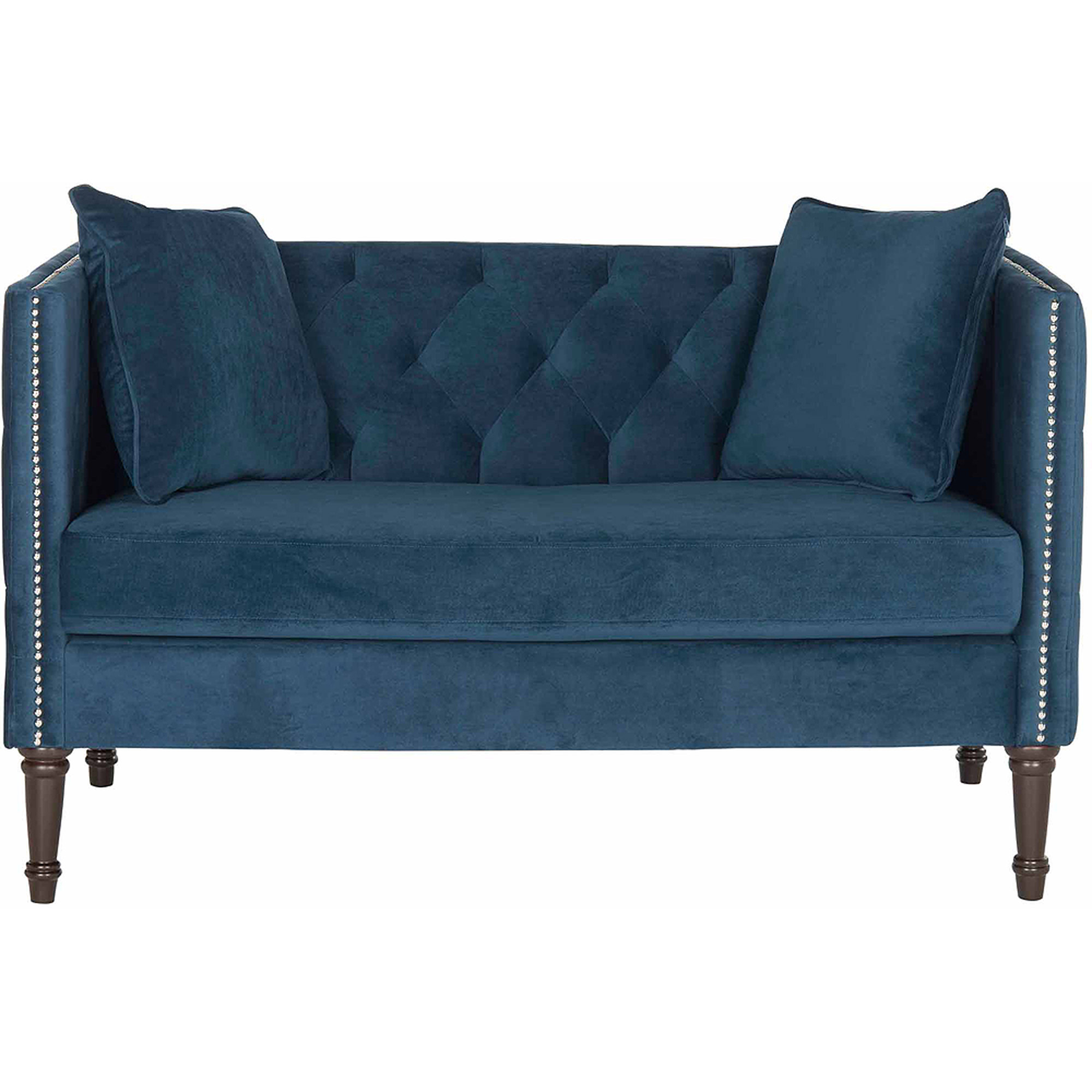 "Safavieh 53"" Sarah Tufted Settee with Pillows, Multiple Colors"