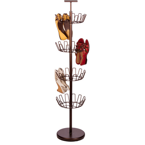 Honey Can Do 24-Pair Shoe Tree Rack with 4 Tiers, Multiple Colors by Honey Can Do