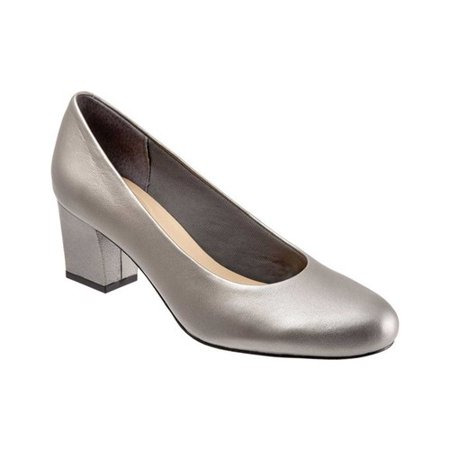 Women's Trotters Candela Pump Pewter Kids Shoes