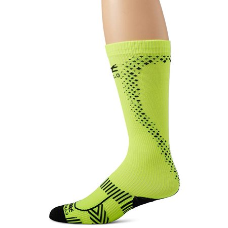 Zoot Sports Men's Ultra 2.0 CRX Socks, Safety Yellow/Black, Size 4 (15-17.5in)