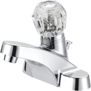 Home Impressions 1 Acrylic Handle 4 In. Centerset Bathroom Faucet